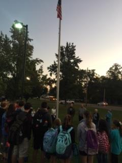 flag pole gathering